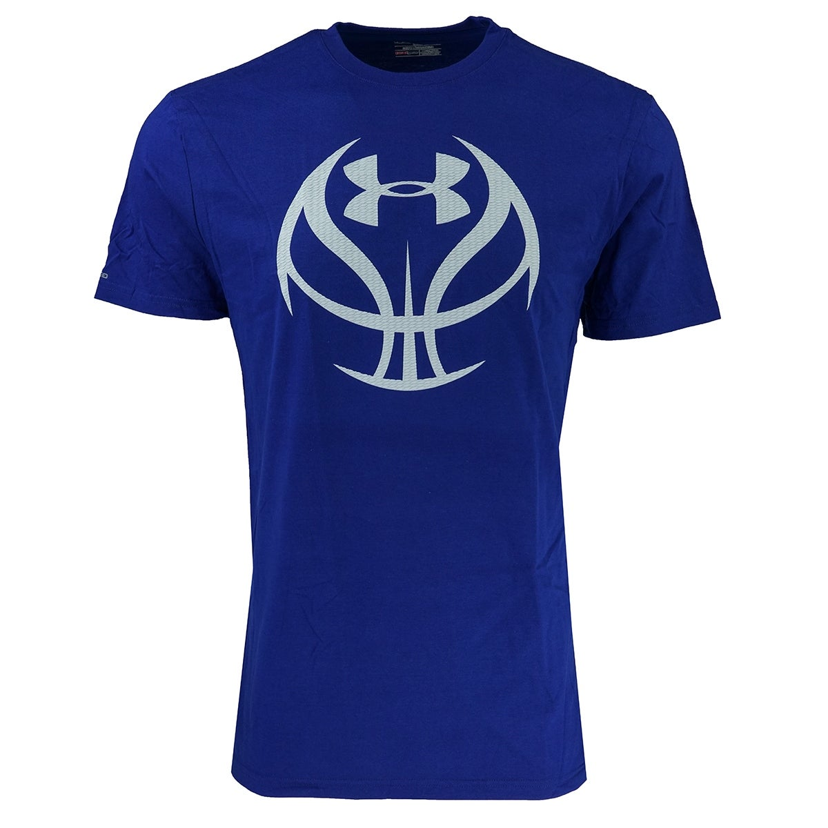 779f679837fc Shop Under Armour Men s Heatgear Basketball Logo T-Shirt - royal blue ash  white - On Sale - Free Shipping On Orders Over  45 - Overstock - 23485351