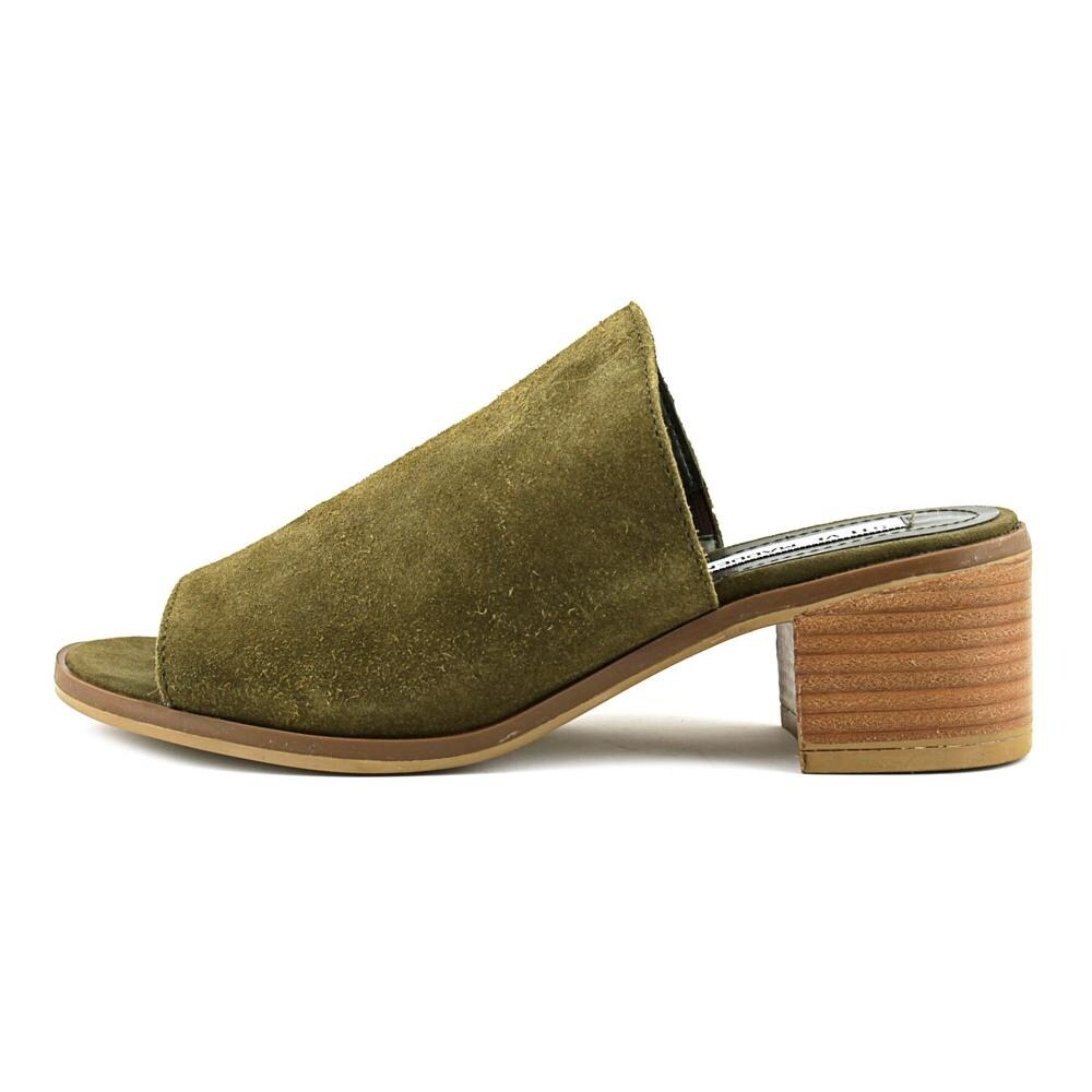 4d3235c423e Shop Steve Madden Richelle Women Open Toe Suede Green Slides Sandal - Free  Shipping Today - Overstock - 15980631