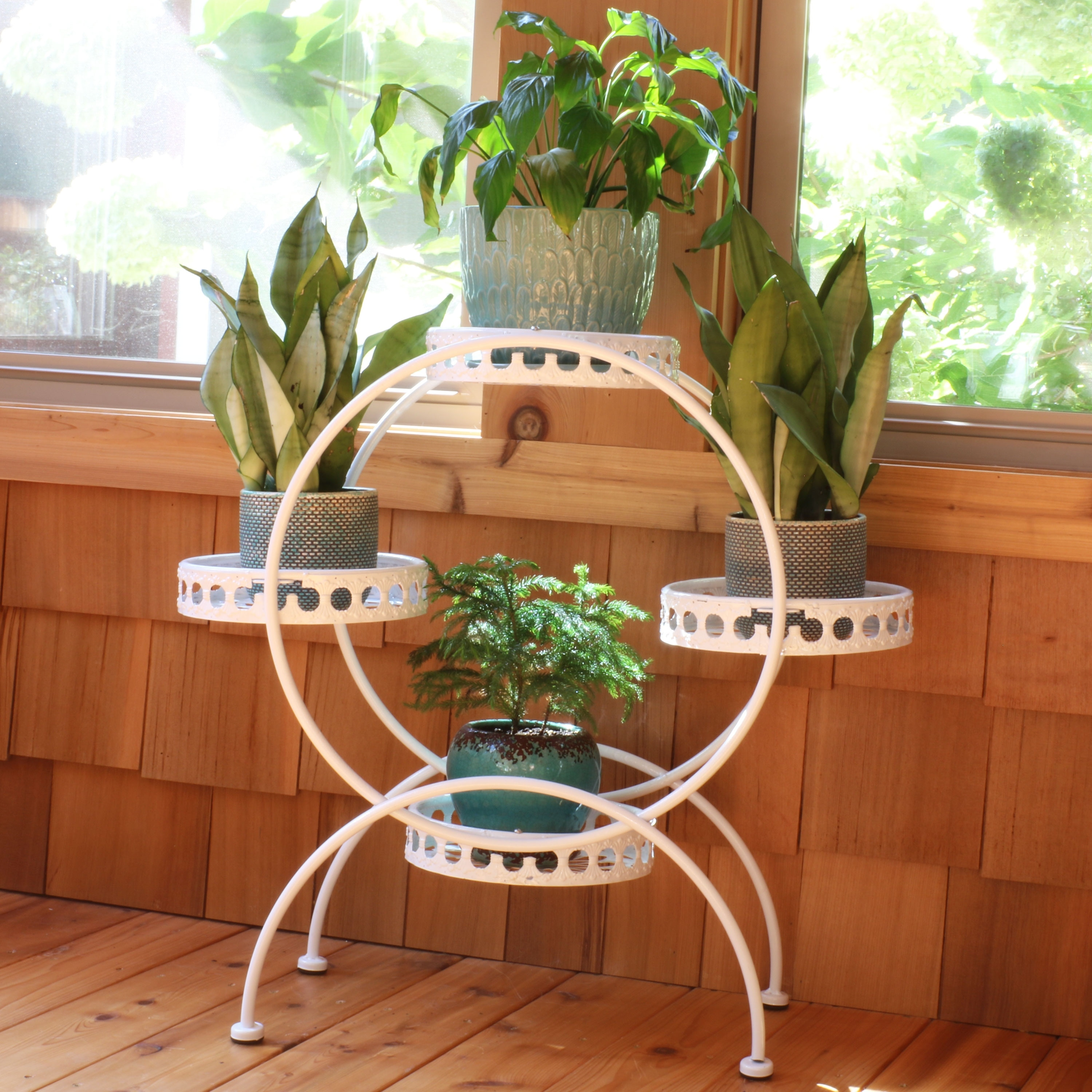 Shop Sunnydaze 4 Tier Ferris Wheel Indoor Outdoor Plant And Flower