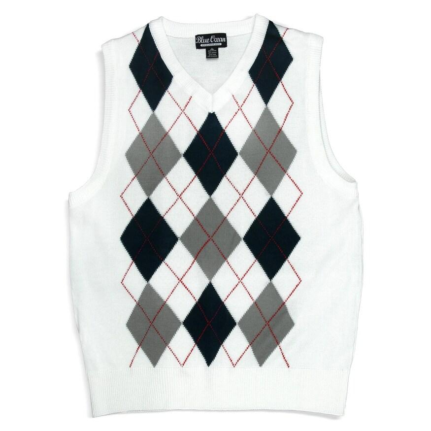 fd9cc4900 Shop Boys Argyle Sweater Vest (SV-255 BOYS) - Free Shipping On ...