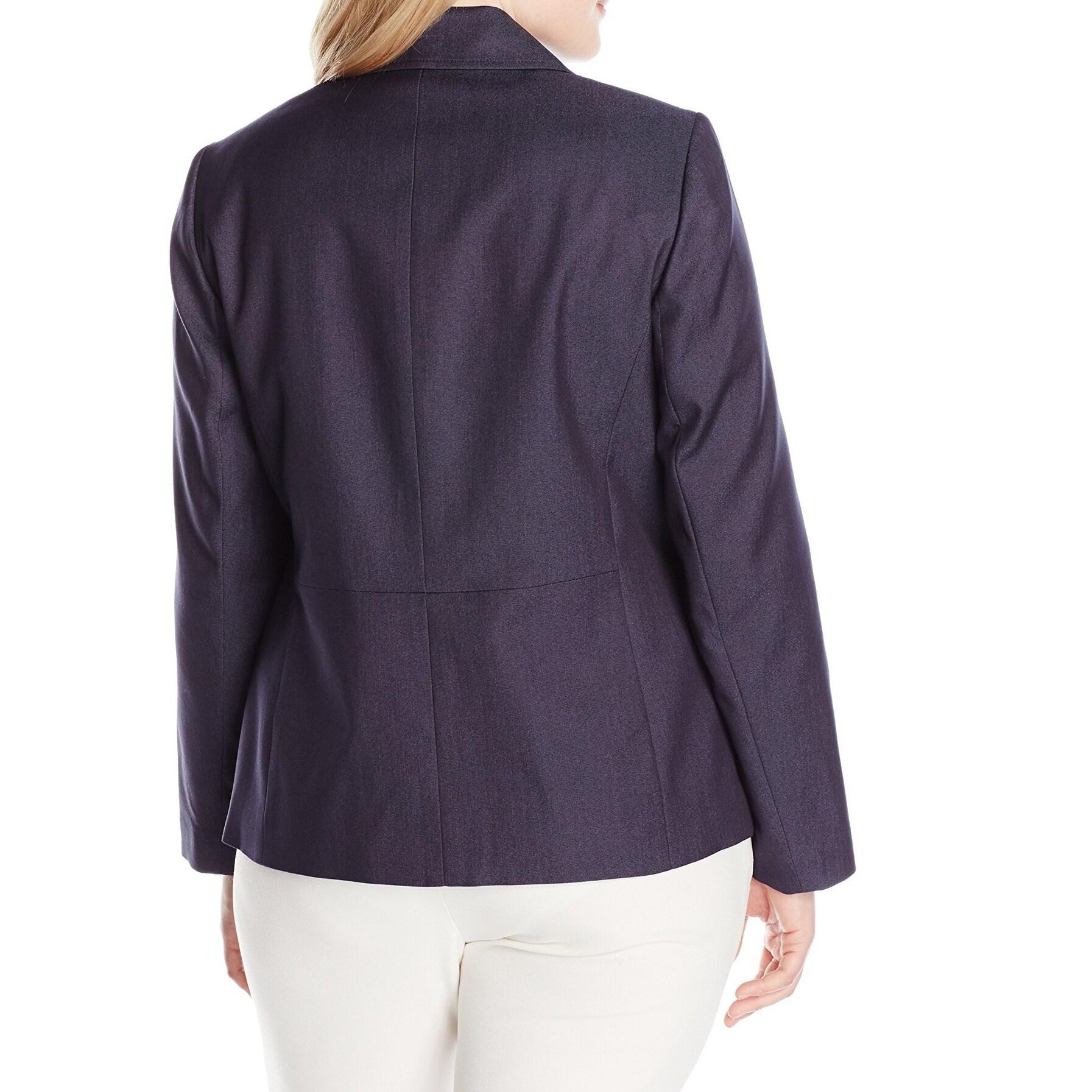 promo code 0dbd5 1c46a nine west plus size denim blazer