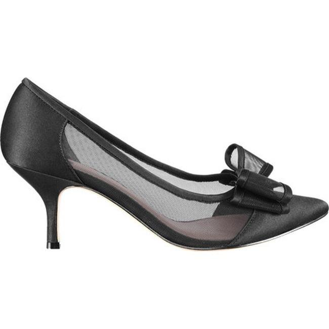 0e8fc4e661b Shop Nina Women s Bianca Kitten Heel Pump Black Luster Satin - On ...
