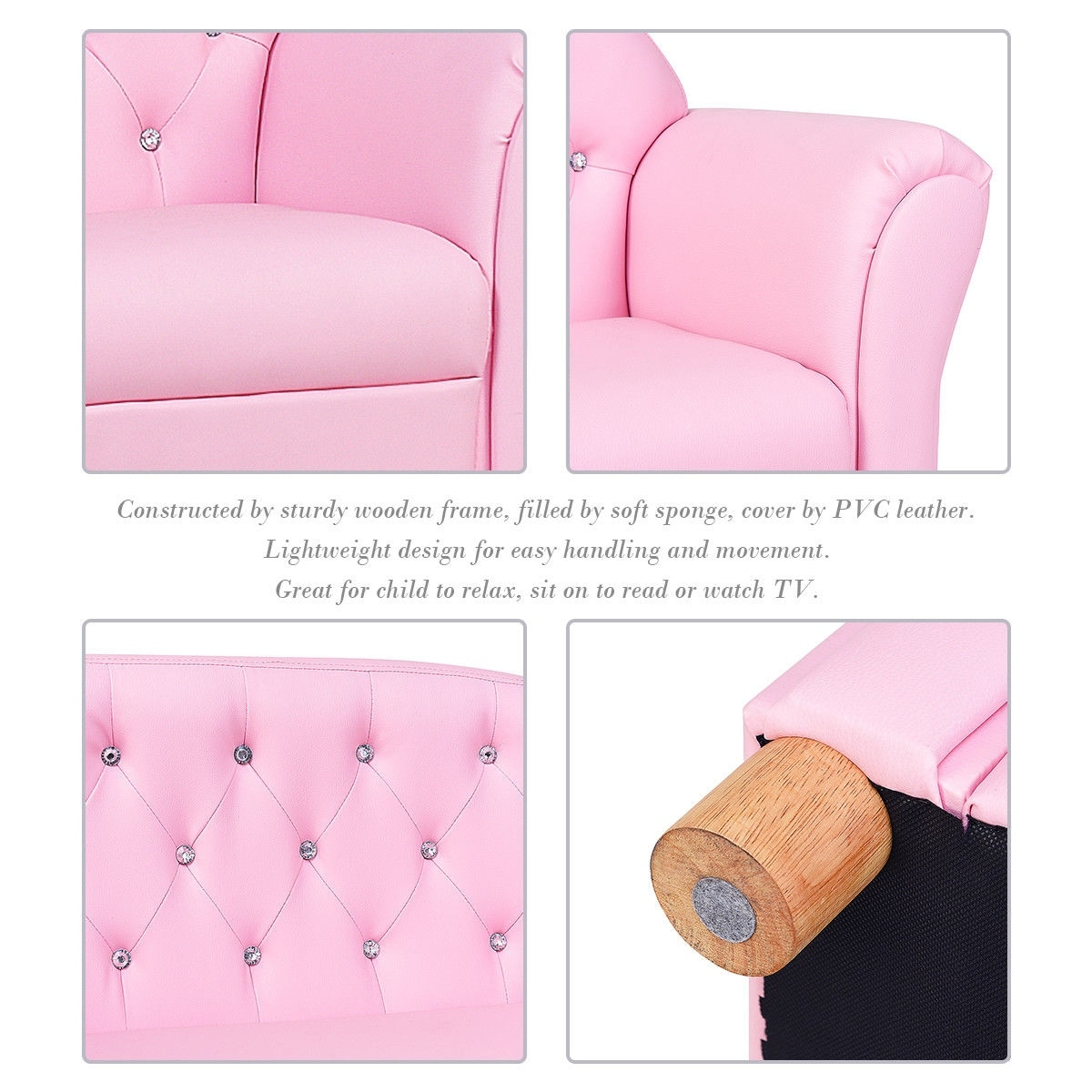 Shop Gymax Kids Sofa Princess Armrest Chair Lounge Couch Loveseat Children  Toddler Gift   Free Shipping Today   Overstock.com   22704682