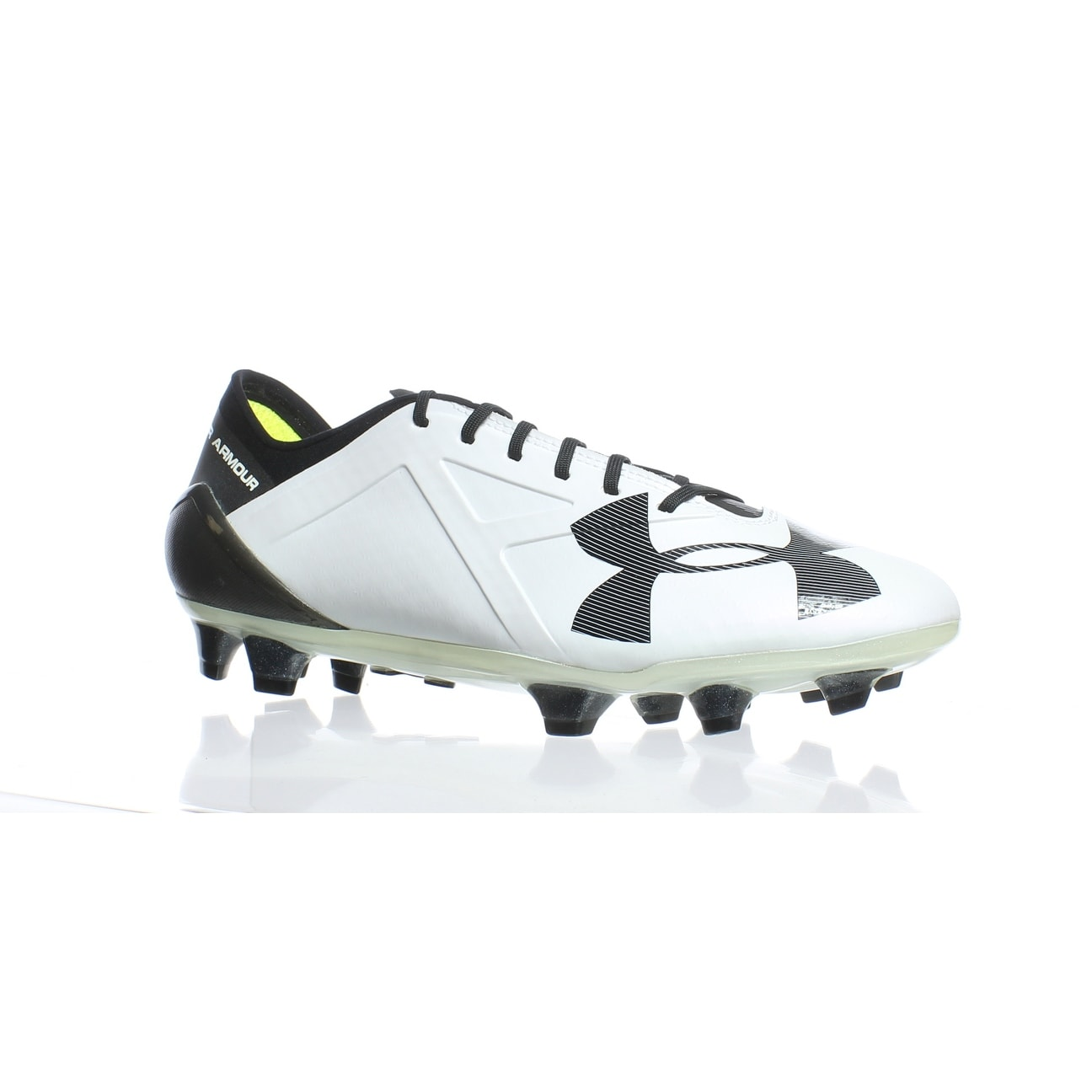 Shop Under Armour Mens Spotlight White Black Soccer Cleats Size 8 ... fadb72230
