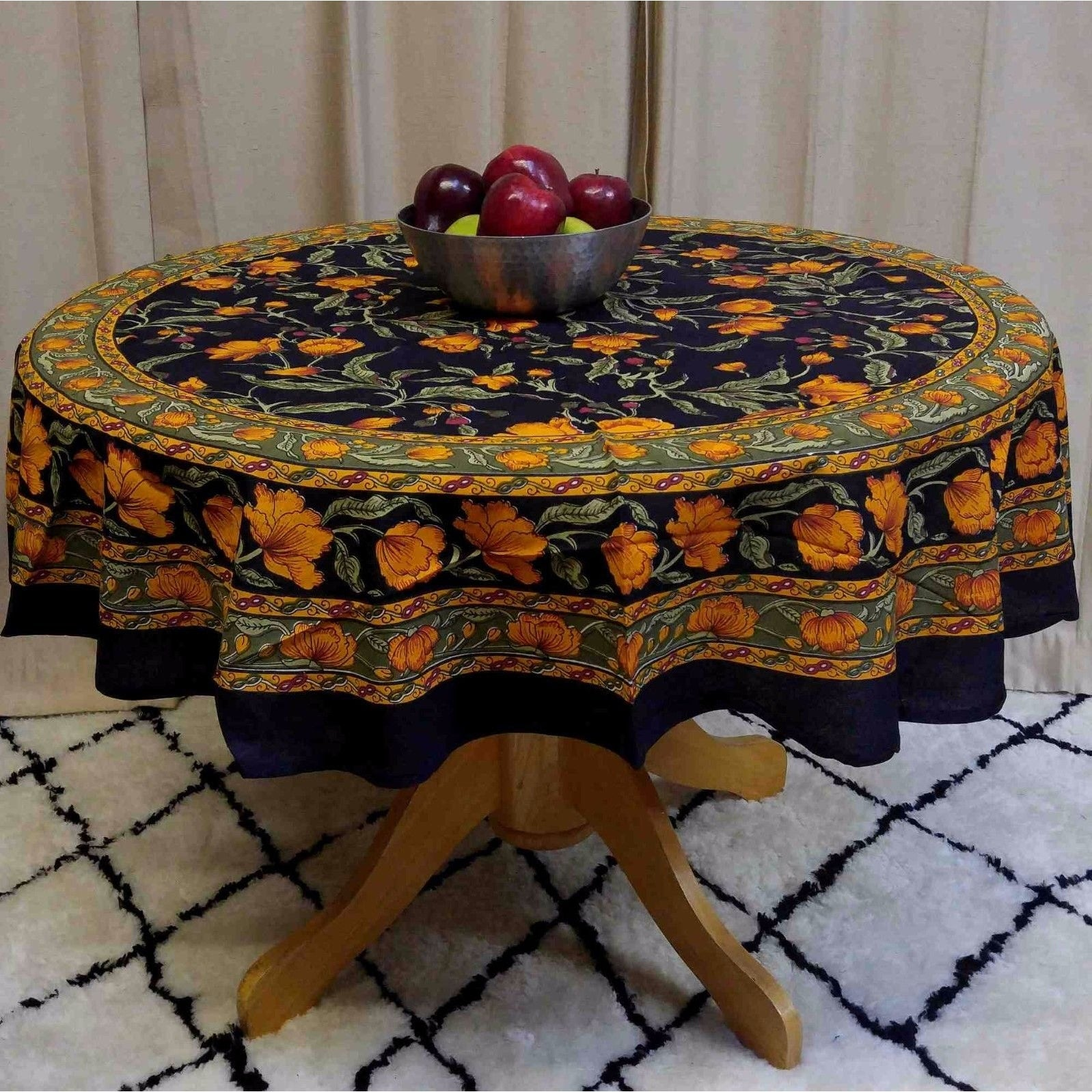 Beautiful Shop Beautiful Handmade 100% Cotton French Floral Print Tablecloth 60 Inches  U0026 72 Inch U0026 90 Inch Round   Free Shipping On Orders Over $45    Overstock.com   ...