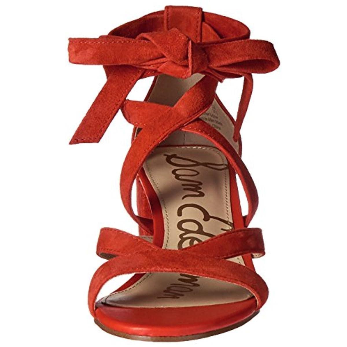 e12f3372e29 Shop Sam Edelman Womens Sheri Dress Sandals Suede Block Heel - Free  Shipping Today - Overstock - 17416159