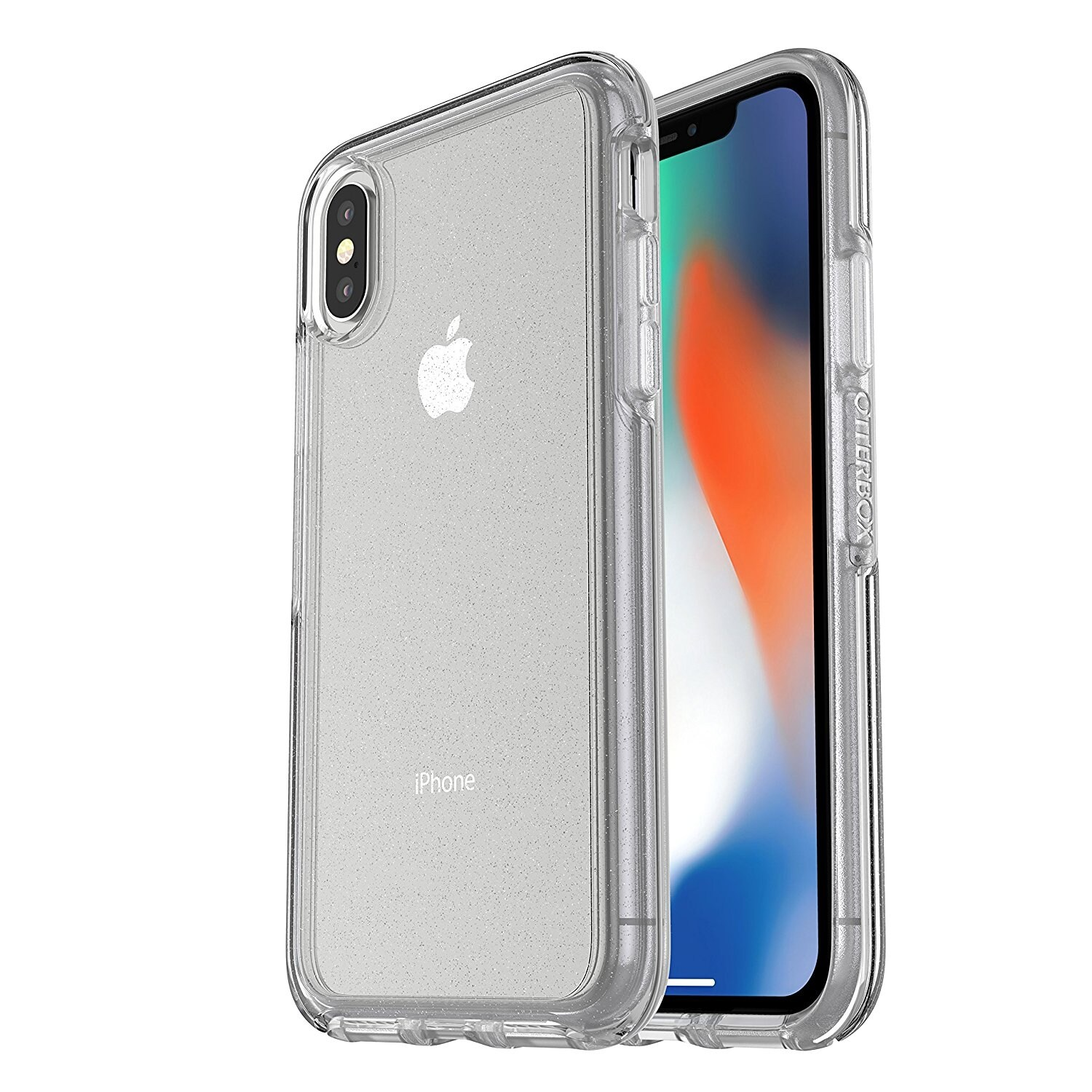 Shop Otterbox Symmetry Clear Series Case For Iphone X Stardust My 6 6s Black Silver Flake Free Shipping On Orders Over 45 18512534