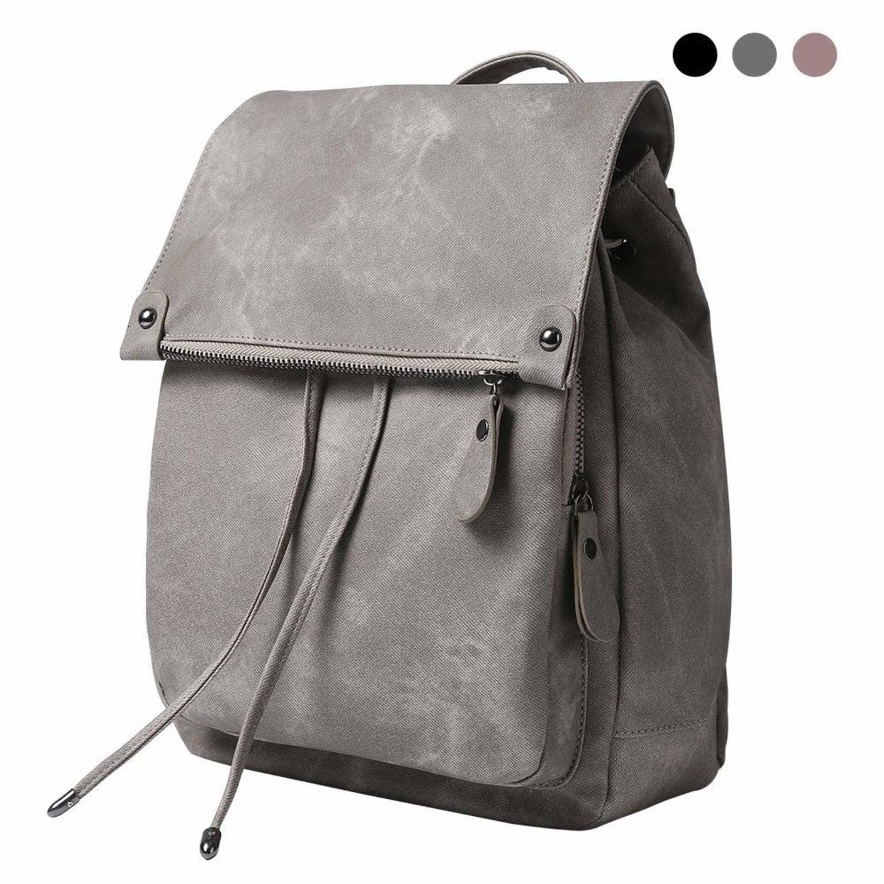 deabc0c37a77 Women Backpack Waterproof Anti-theft Lightweight PU Leather Nylon School  Shoulder Bag Travel Backpack Girls Ladies