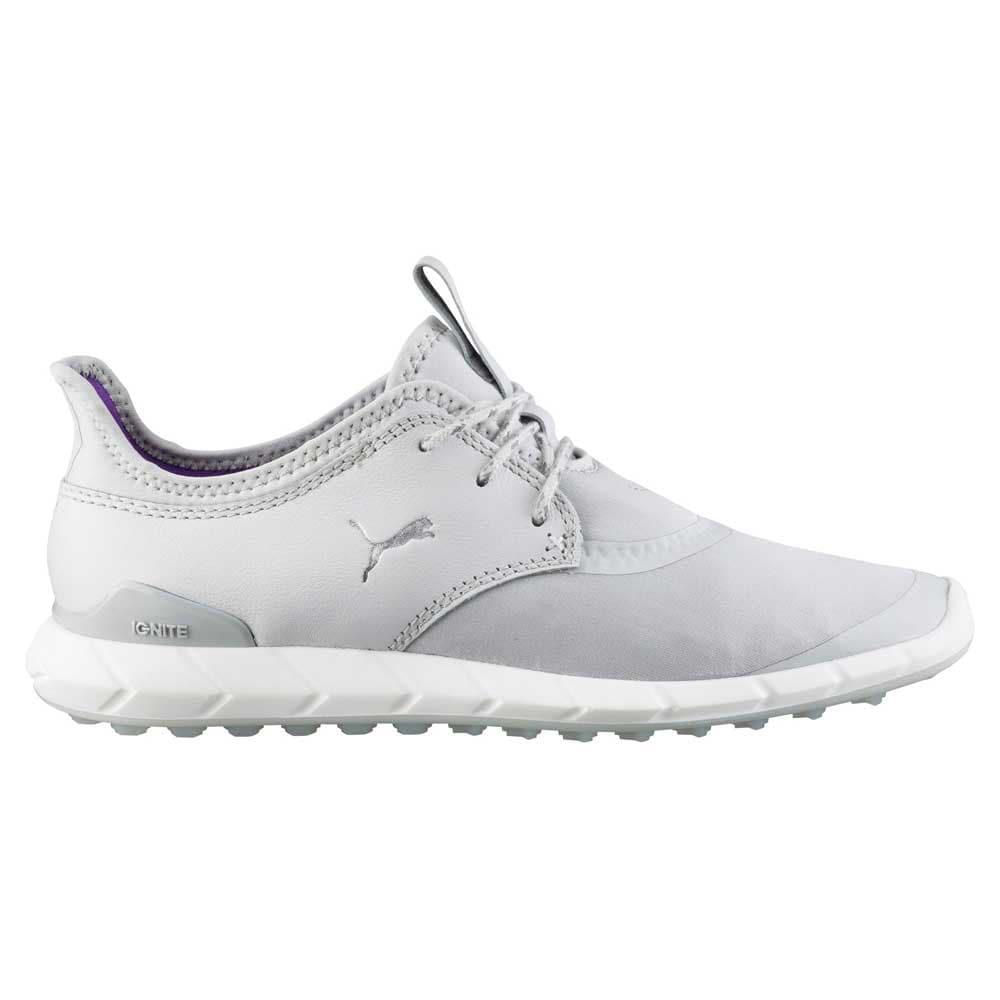 Puma Women s Ignite Spikeless Sport Golf Shoes Grey White 189422-02 eda34e4f2