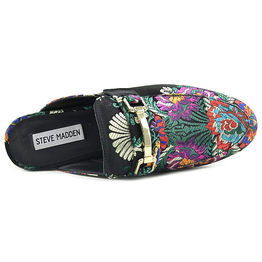 381002b7f91 Shop Steve Madden Brightly Black Multi Clog Mules - Free Shipping Today -  Overstock - 19740196