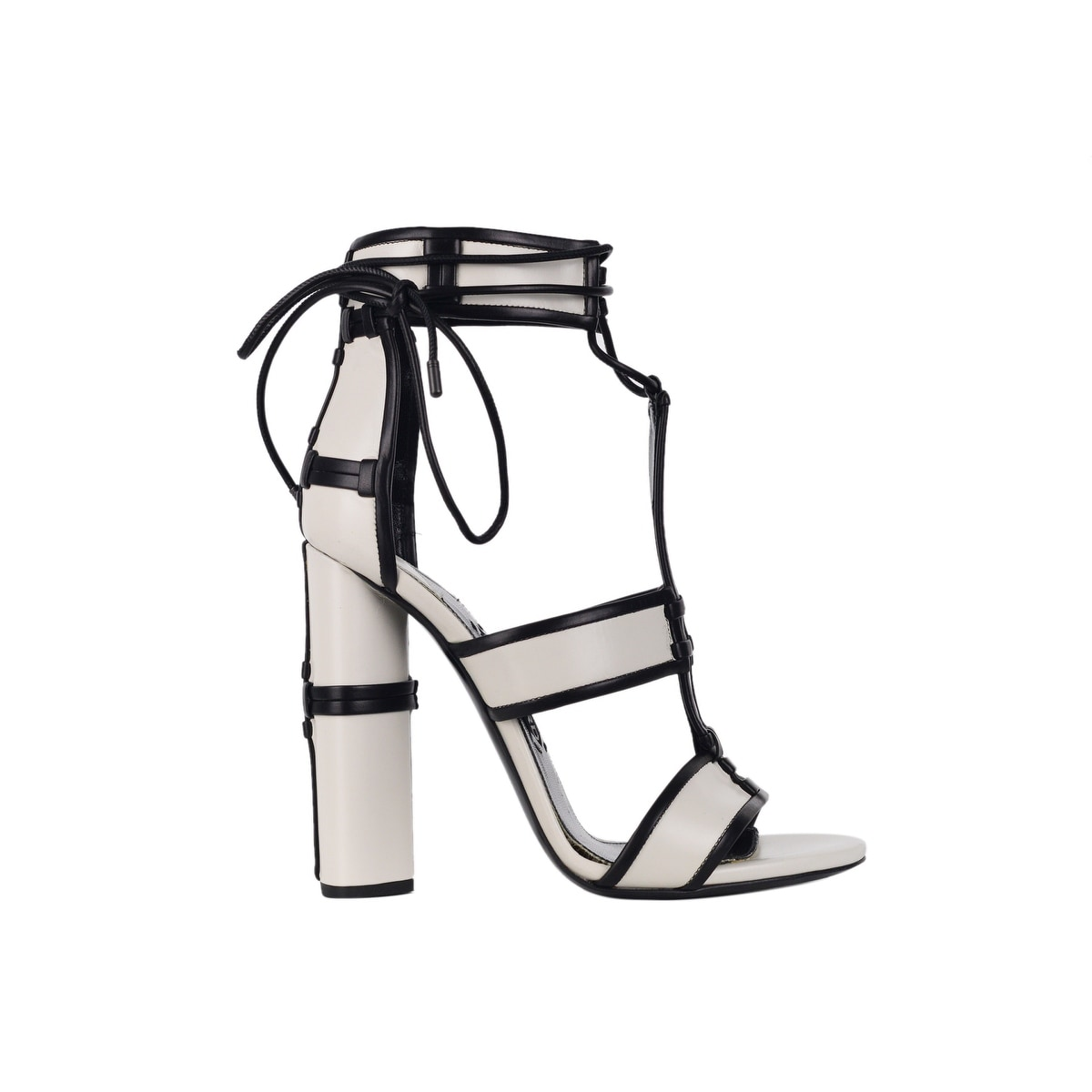 13e304a18aa7 Shop Tom Ford Womens White Harriet Paneled Leather Patchwork Sandals ...