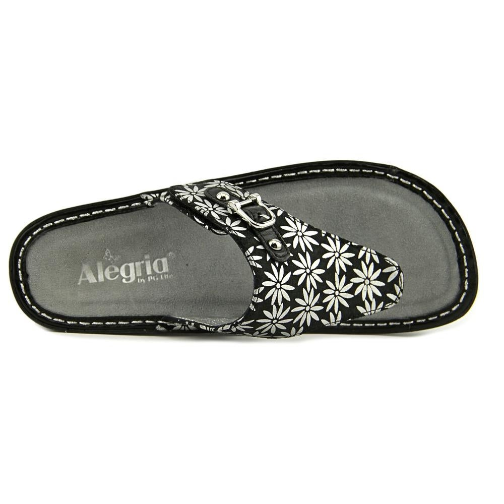 de8e60a5ad22 Shop Alegria Vanessa Women Open Toe Leather Silver Flip Flop Sandal - Free  Shipping On Orders Over  45 - Overstock.com - 14723075