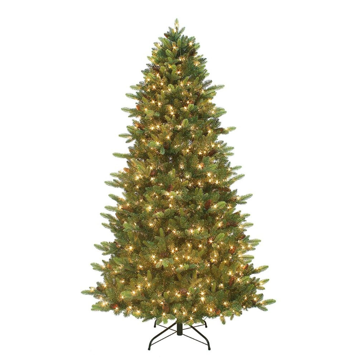 75 Pre Lit Artificial Christmas Tree With Warm White Led Twinkle