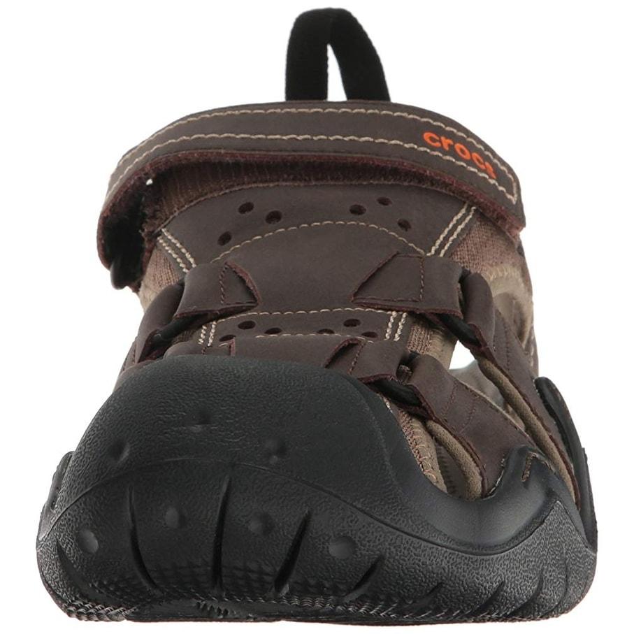 5fecf2fd416 Shop Crocs Men s Swiftwater Leather M Fisherman Sandal