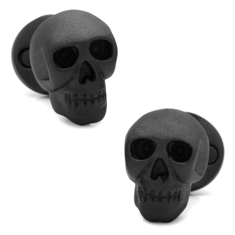 Shop Iron Black Skull Cufflinks - On Sale - Free Shipping Today ...