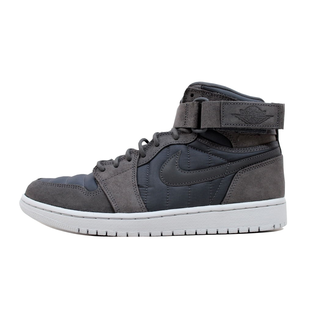 f298d598921c Shop Nike Men s Air Jordan 1 High Strap Dark Grey Dark Grey 342132-005 -  Free Shipping Today - Overstock - 20129467