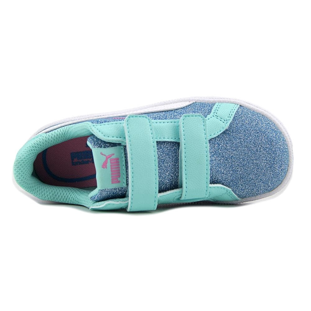 462db47c526 Shop Puma Smash Glitz Glamm V Inf Toddler Synthetic Blue Fashion Sneakers -  Free Shipping On Orders Over  45 - Overstock - 16807929