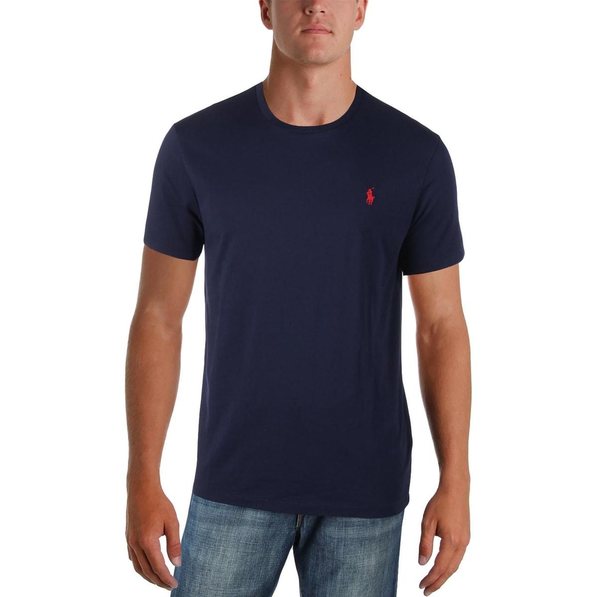 Shop Polo Ralph Lauren Mens Polo Shirt Crewneck Signature Free