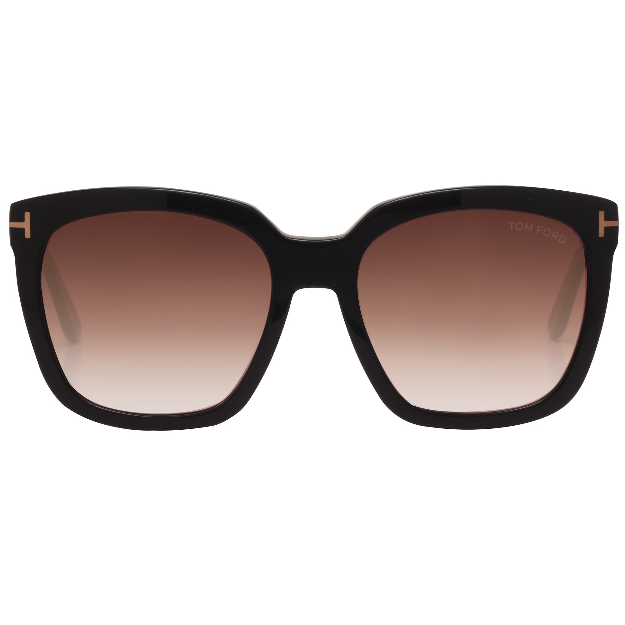 cd5f6548f59 Shop Tom Ford Amarra TF 502 01T 55mm Black Burgundy Gradient Women Square  Sunglasses - Shiny Black - 55mm-18mm-140mm - Free Shipping Today -  Overstock - ...