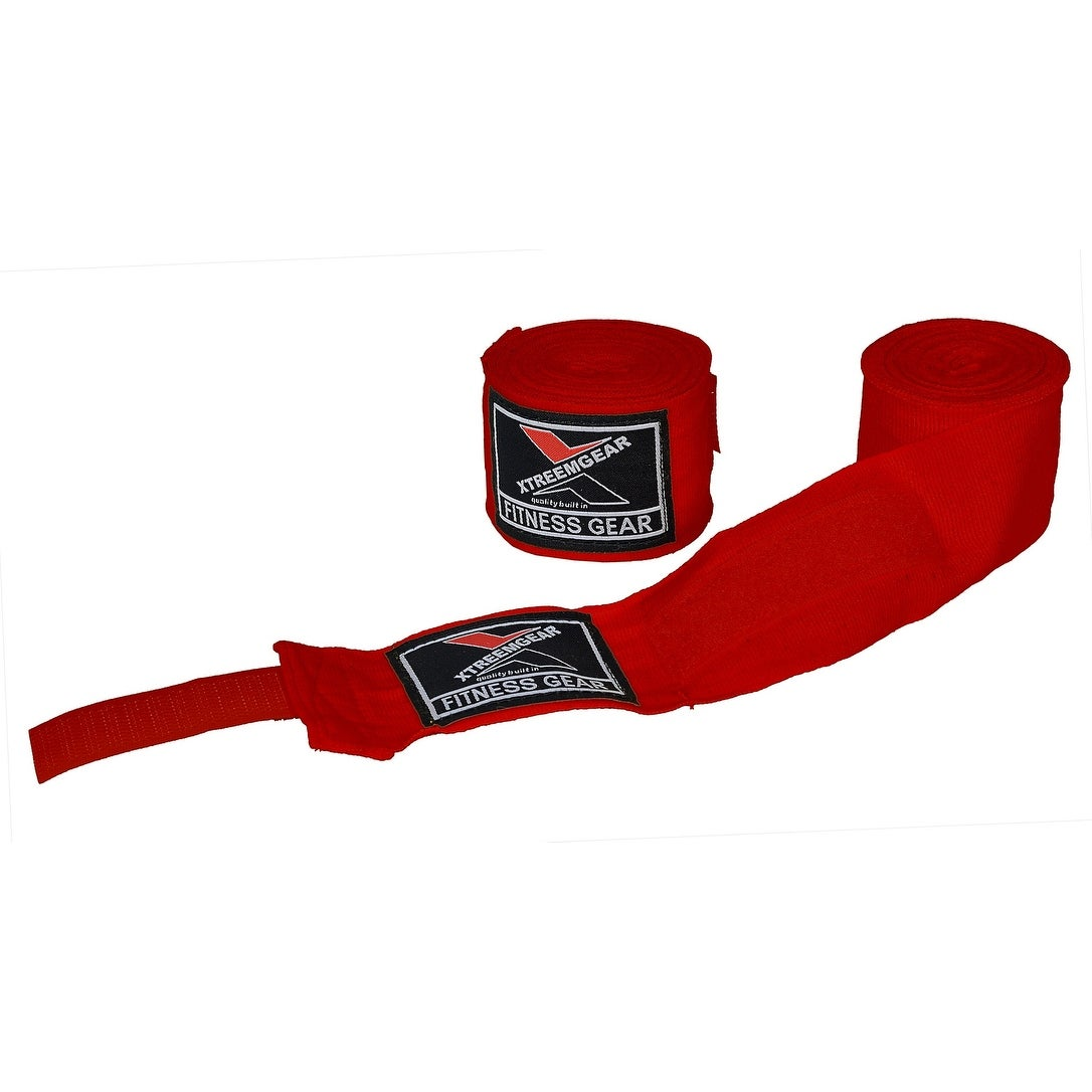 Boxing Hand Wraps Inner Gloves Bandage MMA Training Wrist Strap WRP-5 - Red
