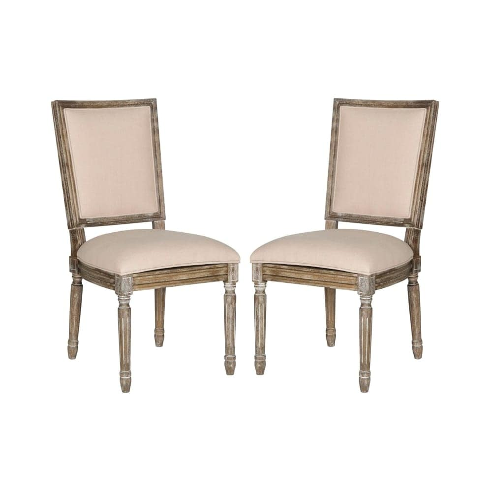 Shop safavieh fox6229 set2 buchanan 19 inch wide rubberwood accent chairs set of 2 free shipping today overstock com 23091708