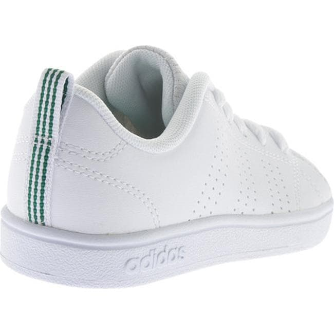 best cheap 09dcb 1c992 Shop adidas Children s NEO VS Advantage Clean Sneaker FTWR White FTWR White  Green - Free Shipping On Orders Over  45 - Overstock - 17292832