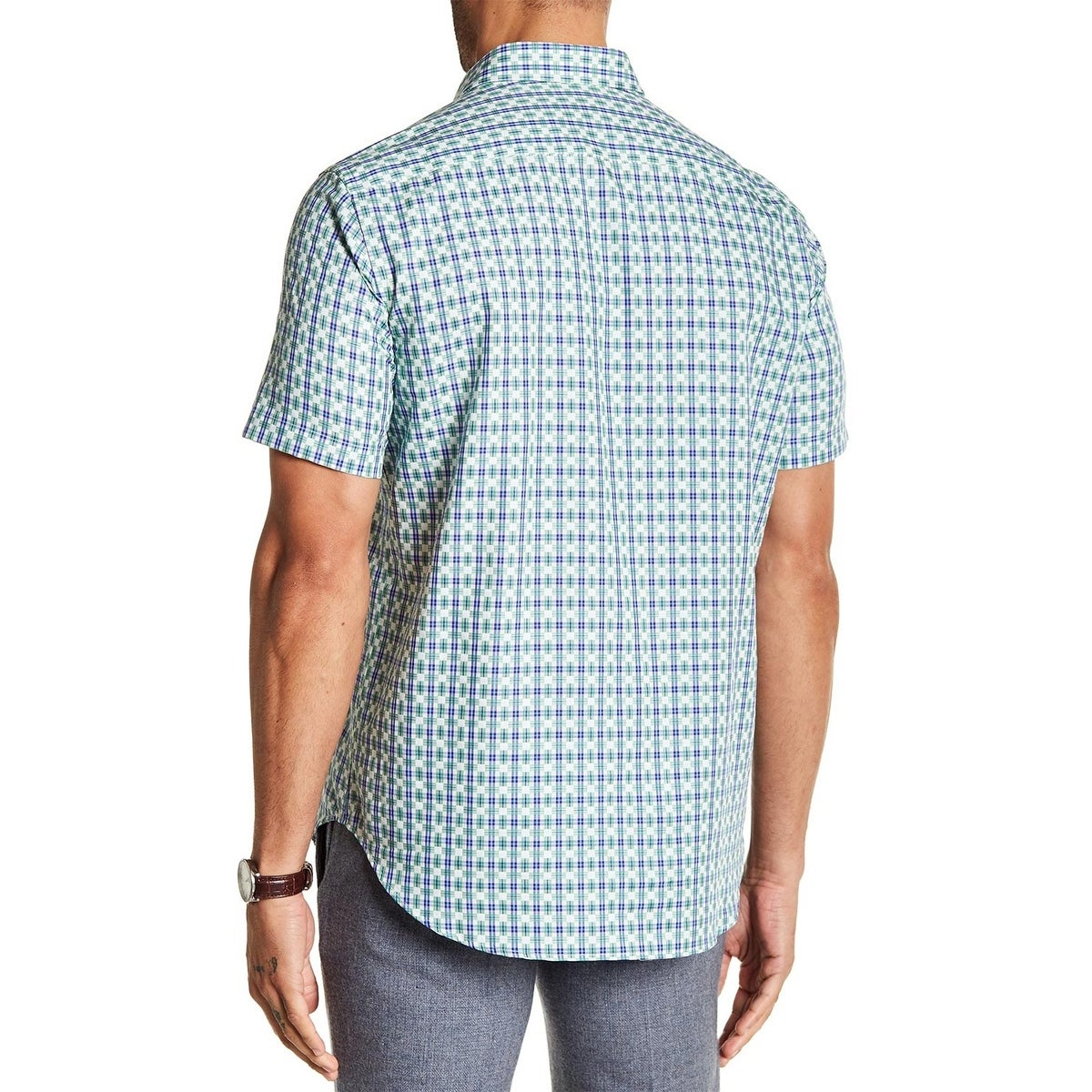 ae65cc12 Shop Robert Graham Bickford Road Woven Plaid Classic Fit Short Sleeve Shirt  Large - Free Shipping Today - Overstock - 25074867