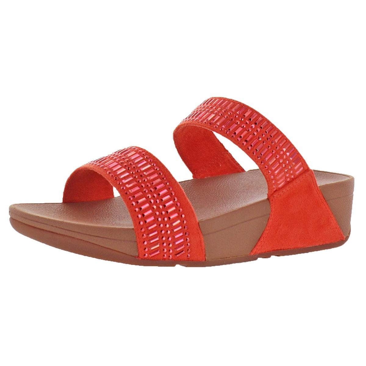 a858c75e4 Shop Fitflop Womens Incastone Slide Sandals Microwobbleboard Studded - Free  Shipping Today - Overstock - 26030238