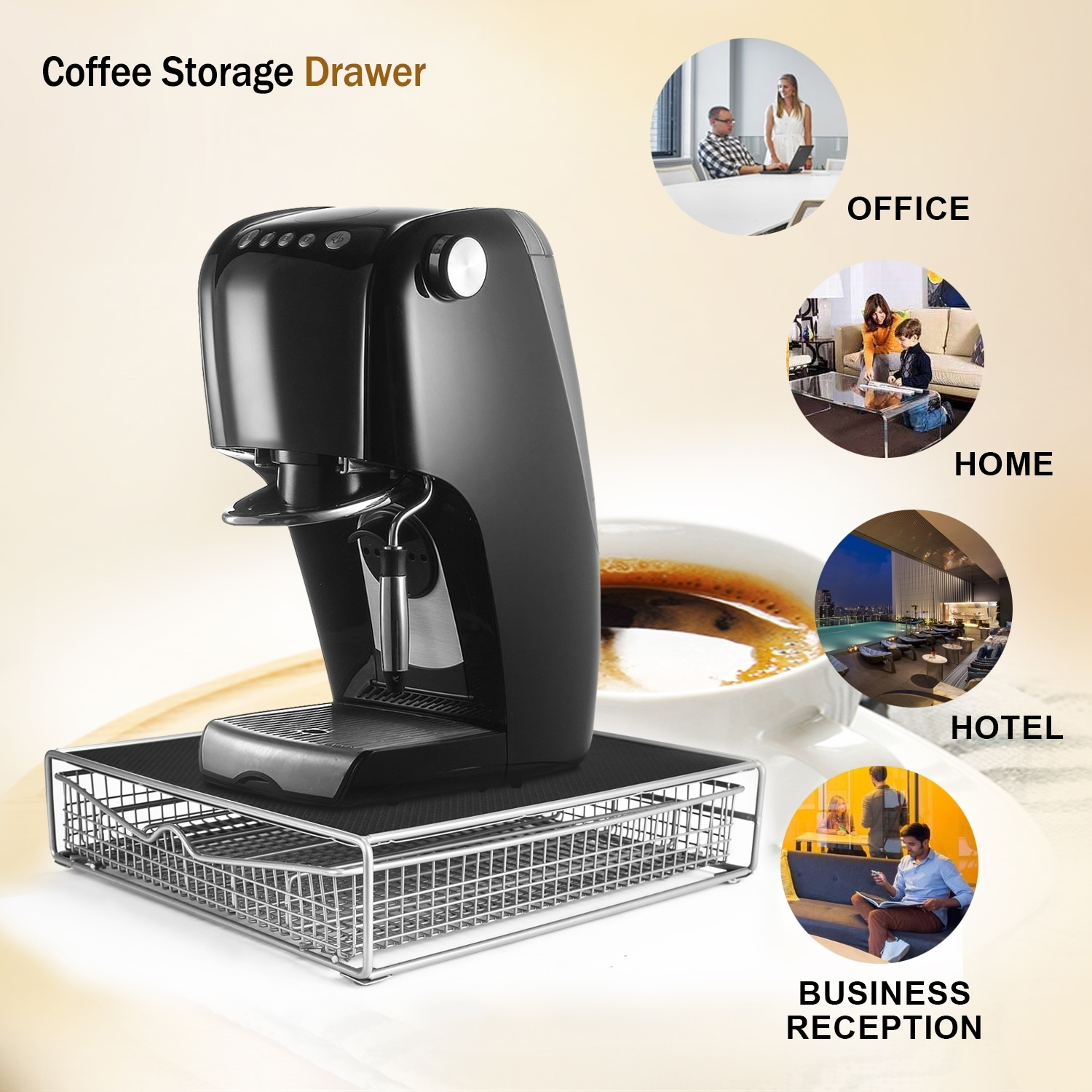 Hk Coffee Storage Drawer Holder Organizer W Rack Mat For Keurig 36kcuppods Tea Makers Free Shipping On Orders Over 45