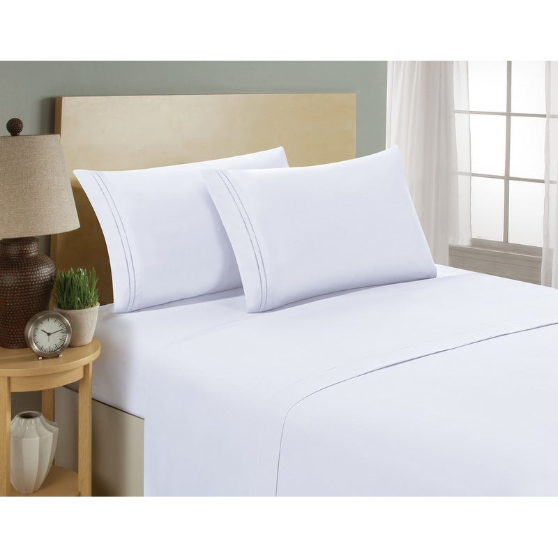 Hc Collection Premium 1500 Series Bed Sheets Hotel Quality Luxury Soft Deep Pocket Hypoallergenic Wrinkle Fade Resistant Free Shipping On