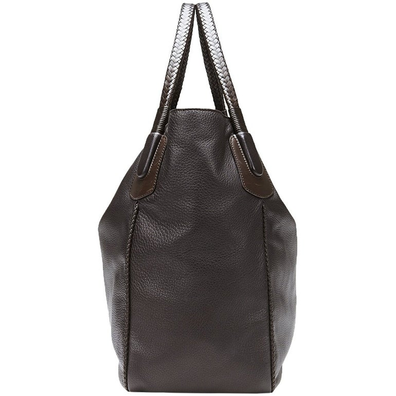 5c350c96edd085 Shop Gucci Women's Dark Brown Leather Large Hip Bamboo Tote Bag 338978 2164  - Free Shipping Today - Overstock - 27603146