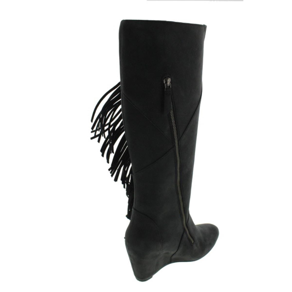 23247f2be611 Shop Koolaburra Womens Paradis Leather Fringe Wedge Boots - Free Shipping  Today - Overstock.com - 13045661
