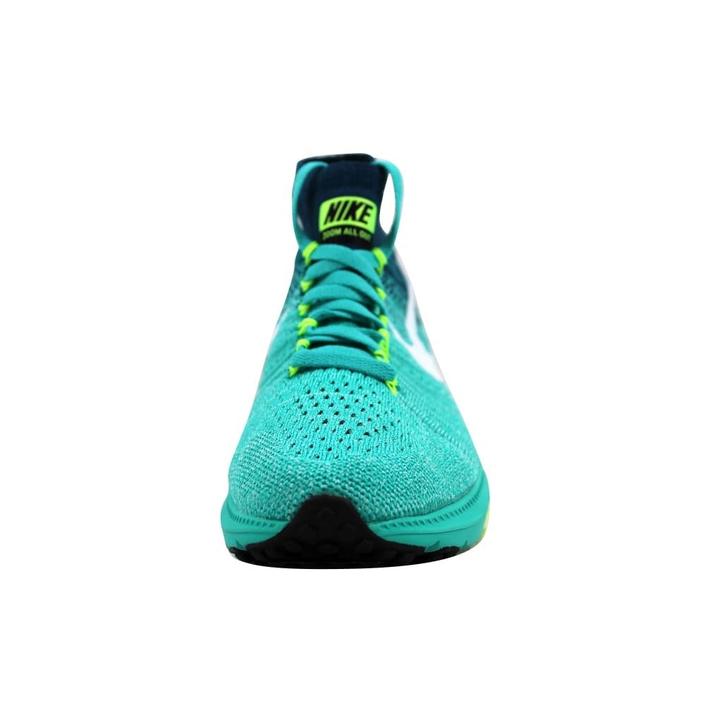5f408d25a Shop Nike Women s Zoom All Out Flyknit Clear Jade White-Midnight Turquoise  nan 845361-313 Size 6 - Free Shipping Today - Overstock - 22919401