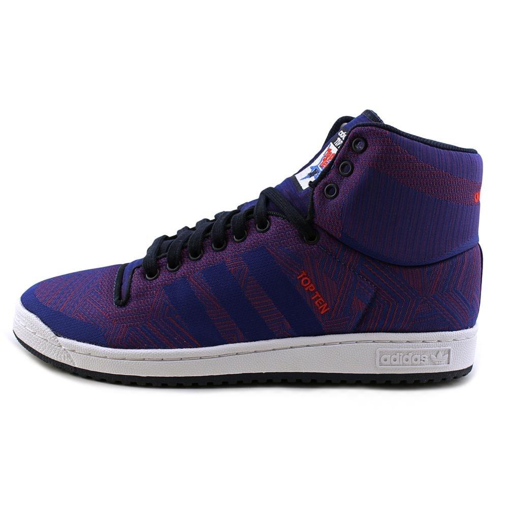sale retailer 367e2 84d7c Adidas Top Ten Hi Woven Men Round Toe Canvas Blue Sneakers