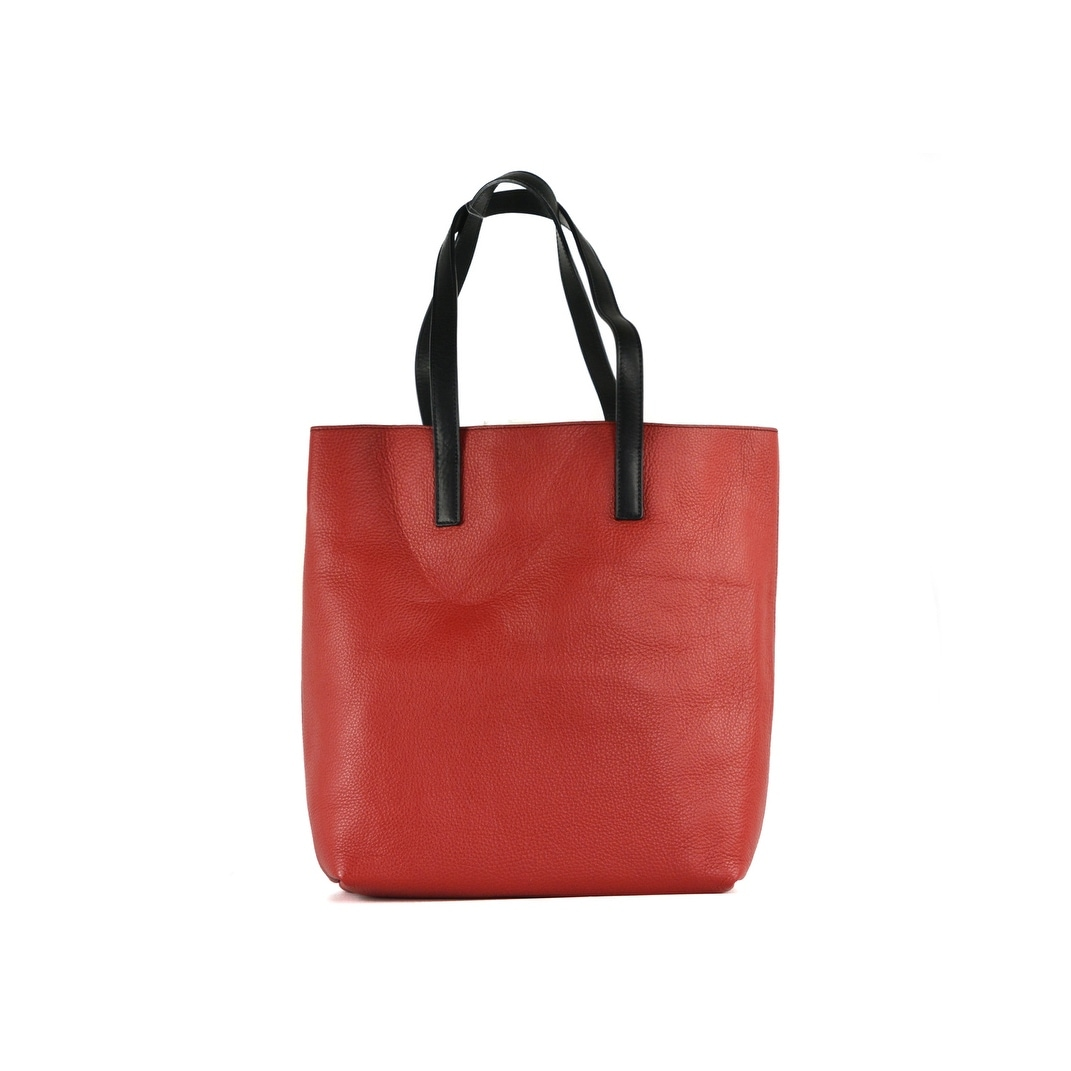 aef3134cf949 Shop Roberto Cavalli Women s Red Grained Leather Black Strap Shoulder Bag -  Free Shipping Today - Overstock - 22995418