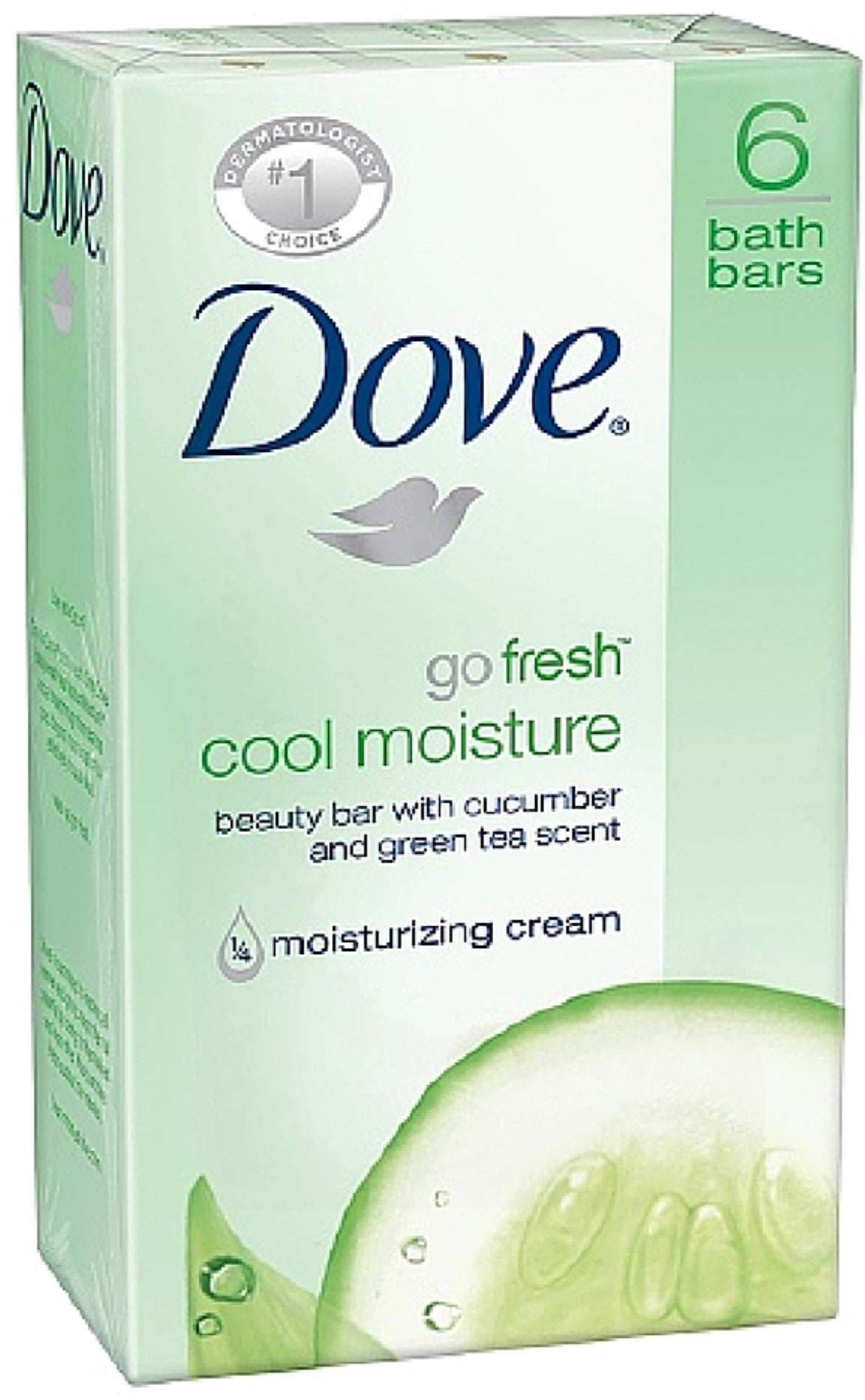 Dove Go Fresh Cool Moisture Beauty Bars, 4 oz bars, 2 ea (Pack of 6) Daily Defense Complex/Recovery Night Moisture Serum by Lifeline Skin Care, 2-Pack, 1 oz. each