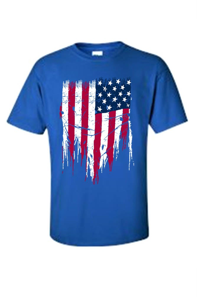 e8f2c7227f54 Shop MEN'S PATRIOTIC T-SHIRT Painted USA AMERICAN FLAG RED WHITE BLUE PRIDE  S-5XL TEE - On Sale - Free Shipping On Orders Over $45 - Overstock -  11598568