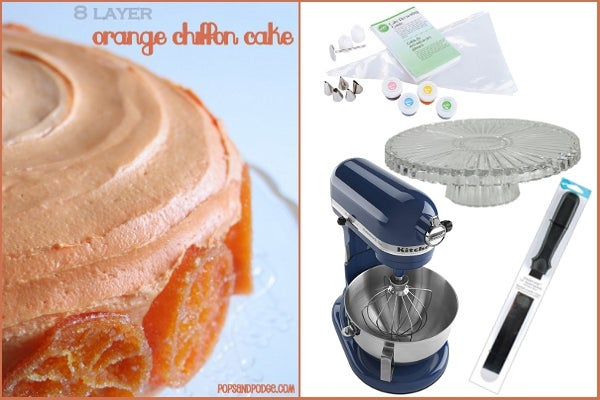 8-Layer Orange Chiffon Cake
