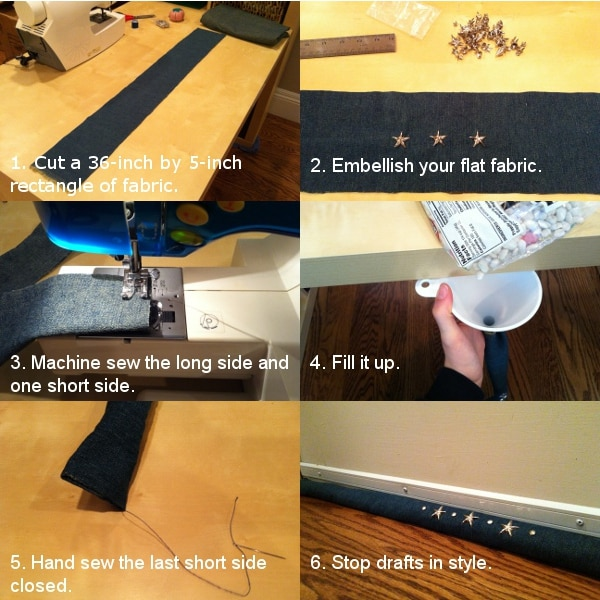 Warm Up Your Home Diy Door Draft Stopper