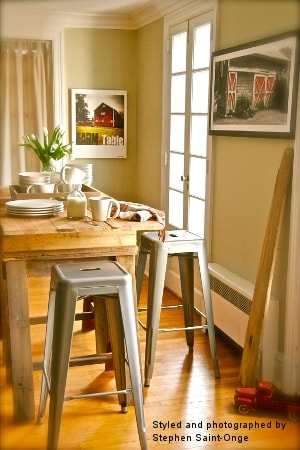 Tabouret Bar Stools as Styled by Stephen Saint-Onge