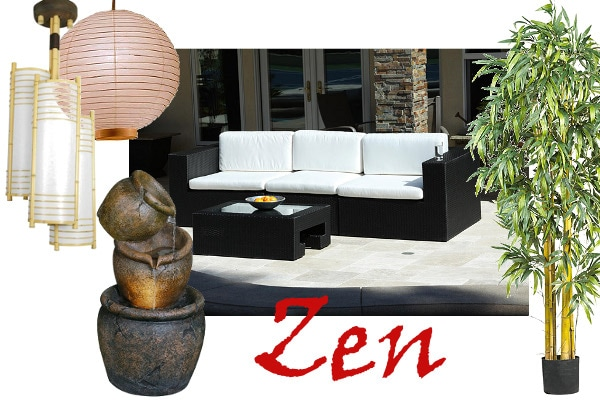 Zen Patio Inspiration: Image courtesy of http://kandthouse.blogspot.com/2008/04/front-patio-ideas.html