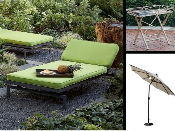 Patio Collage with Chaise Lounge