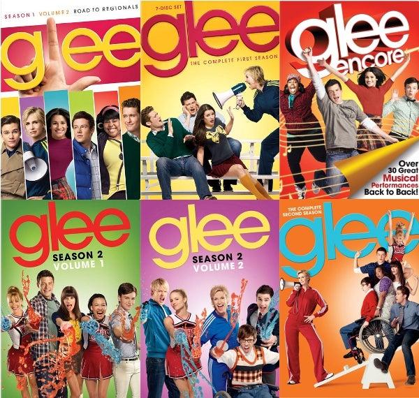 Glee DVD Collage