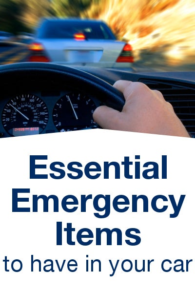 Essential Emergency Items to Have in Your Car from Overstock™. Keep these emergency essentials in the trunk of your car, and you'll be ready for anything on the road.