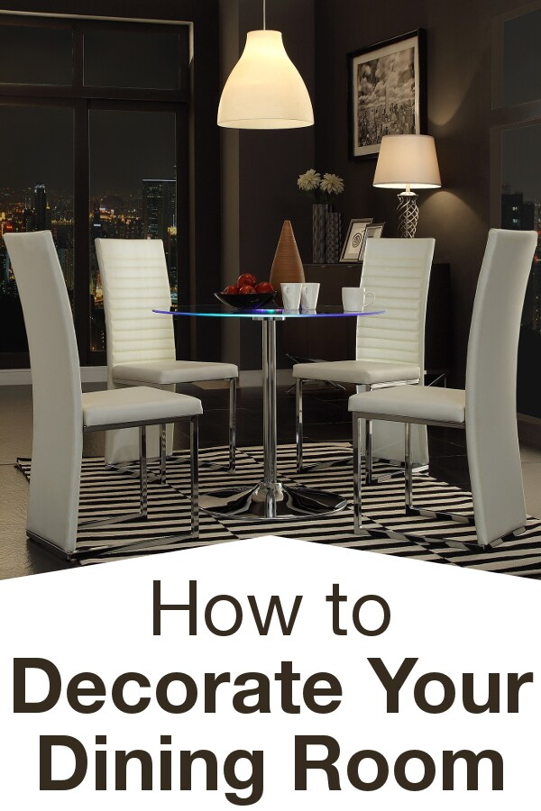 How to Decorate Your Dining Room from Overstock™. Once you have a dining table and chairs, you can sit down to eat, but a well-decorated dining room needs these other essential pieces.
