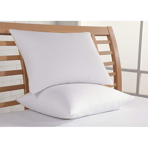 Clean and Fresh 250 Thread Count Cotton Sateen Bed Pillows (Set of 2) - White