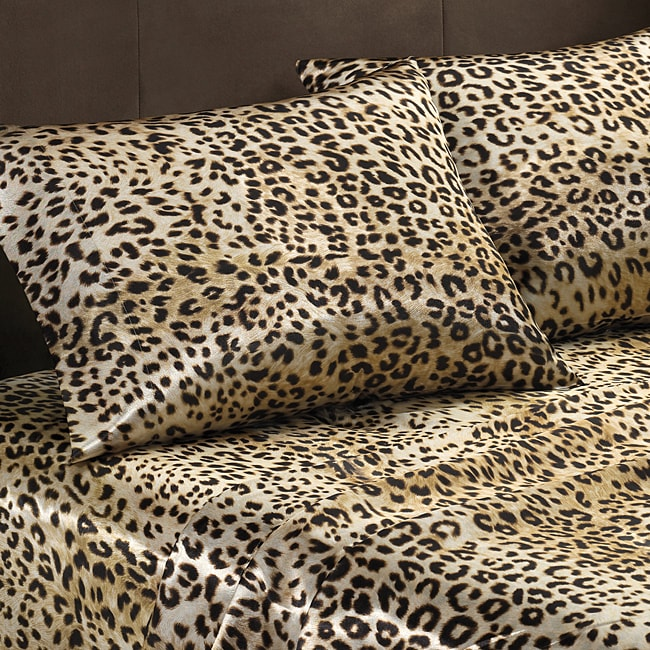 Premier Comfort Cheetah Polyester Textured Satin Standard Pillowcases (Set of 2)