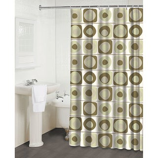 'Vintage Squares Pearl' Shower Curtain