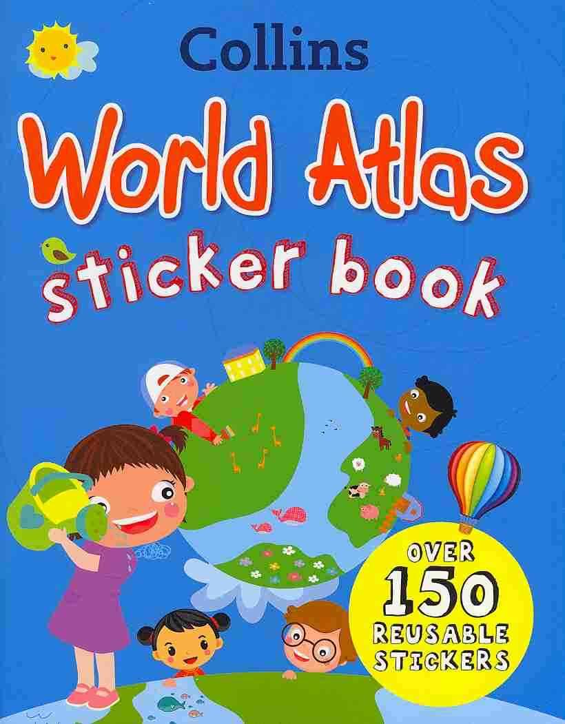 Collins World Atlas Sticker Book (Paperback)