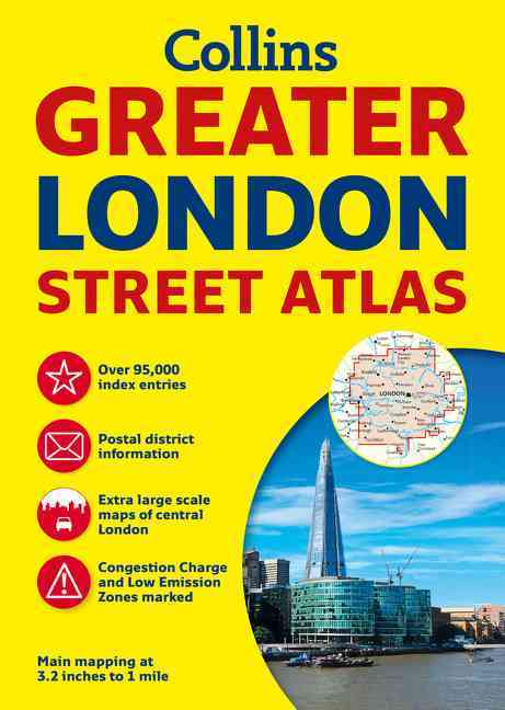 Collins Greater London Street Atlas (Paperback)